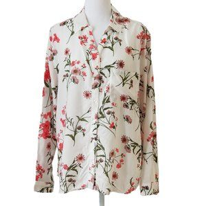 George Long sleeve floral blouse Size XL (16-18)